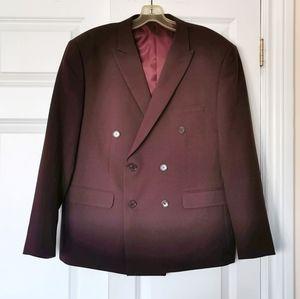 Alain Dupetit burgundy suit jacket blazer 42s